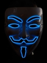 Hit der Saison ! Party Leuchtmaske  EL MASKE MUSKETIER Anonymous  ElektroLumineszens Schlauch